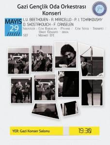 gazi gençlik oda orkestrası afiş