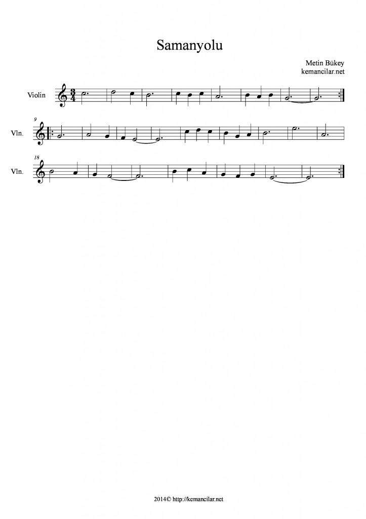 samanyolu keman notaları