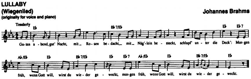 brahms ninni keman notaları