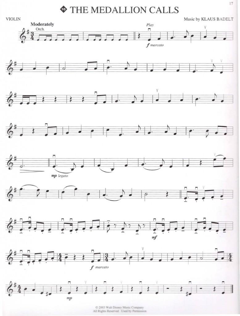karayip korsanları keman notaları